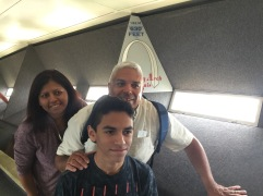 My family at 630 feet (192 meters) at the top of the arch.